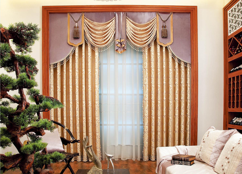 新中式风格窗帘图片