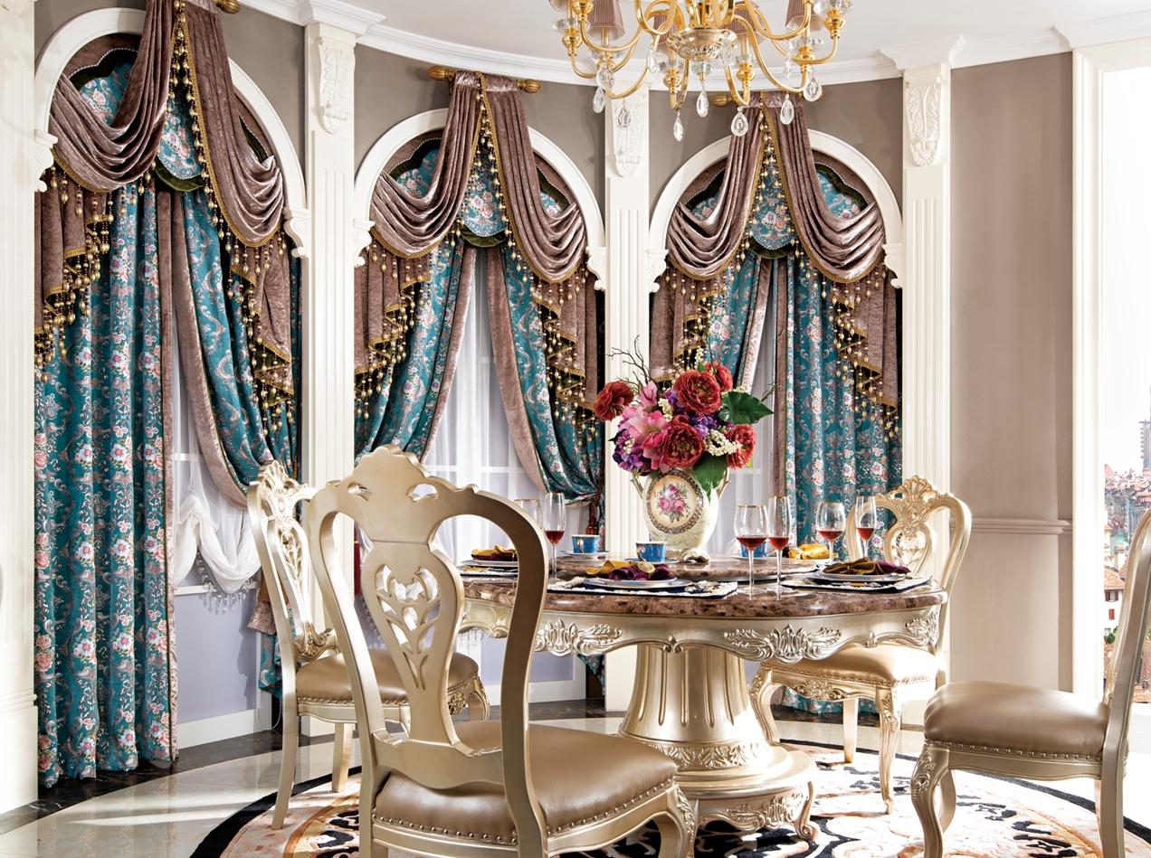 餐厅软装之传统欧式风格窗帘