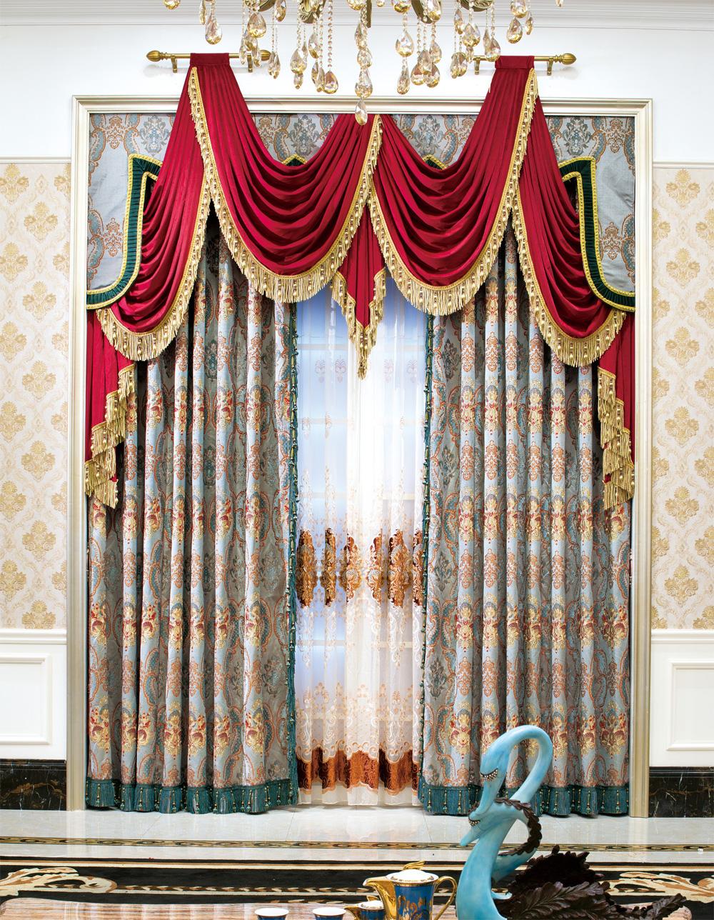 豪华欧式风格窗帘|欧式窗帘|上海文宗缘商贸有限公司