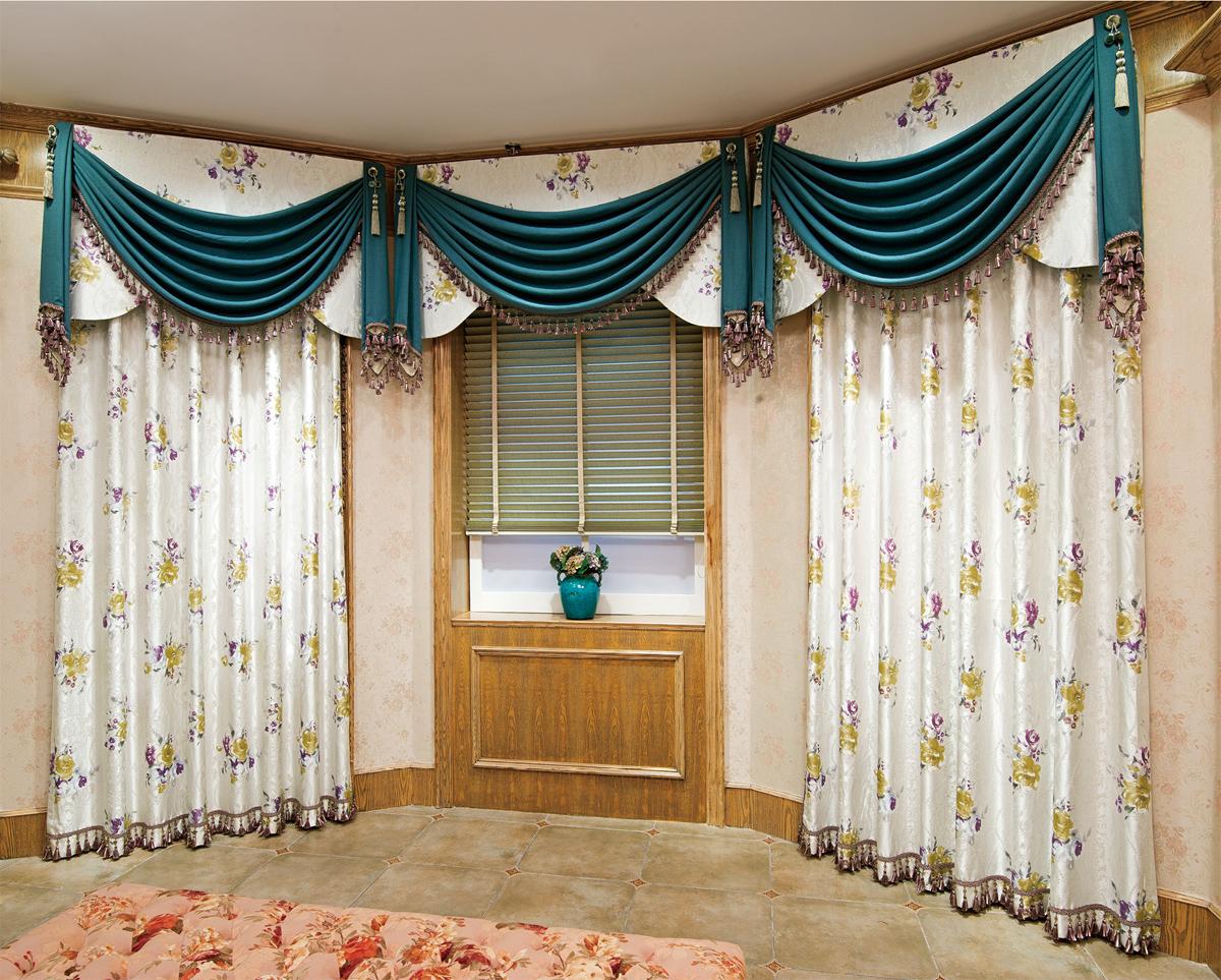 欧式庄园风格窗帘图片