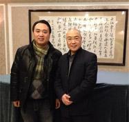 公司总经理张栋林与上海音乐学院教授贾达群合影