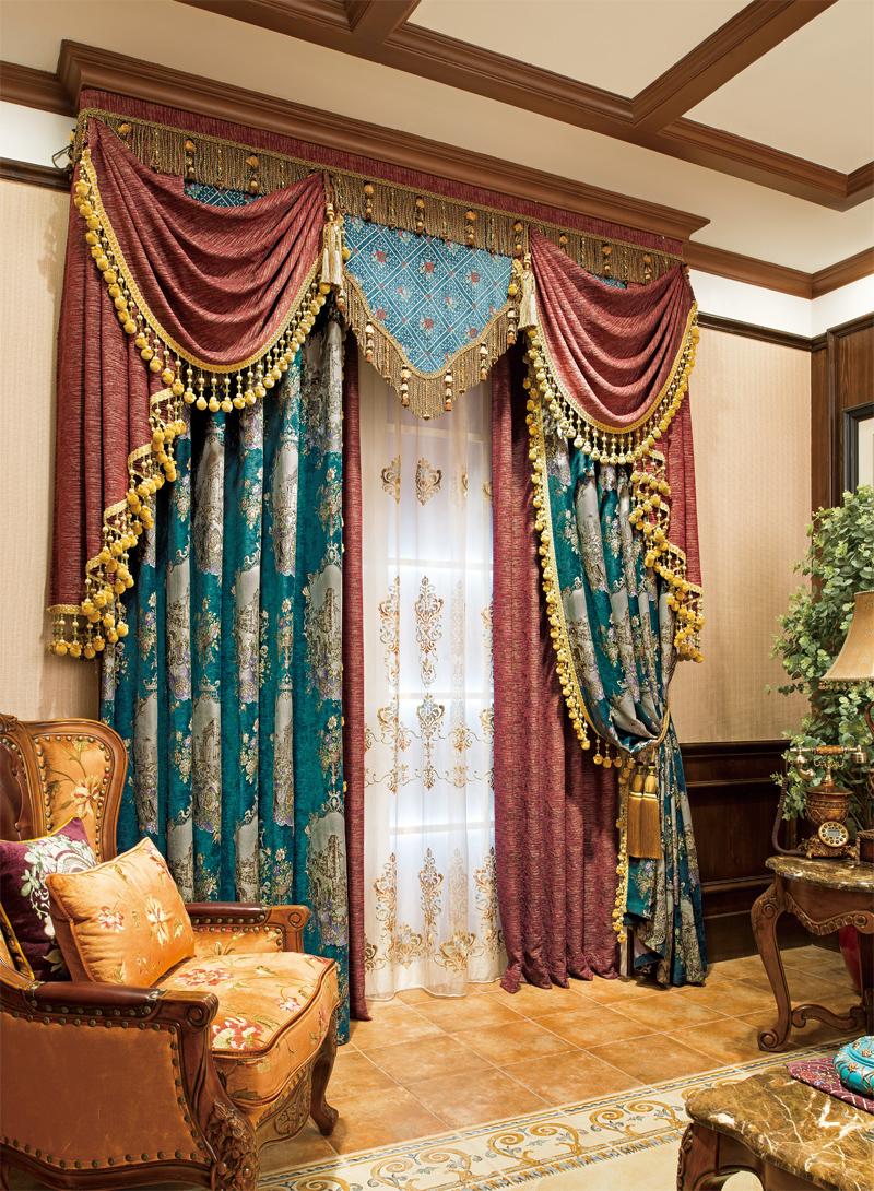 豪华欧式风格窗帘 欧式窗帘 上海文宗缘商贸有限公司