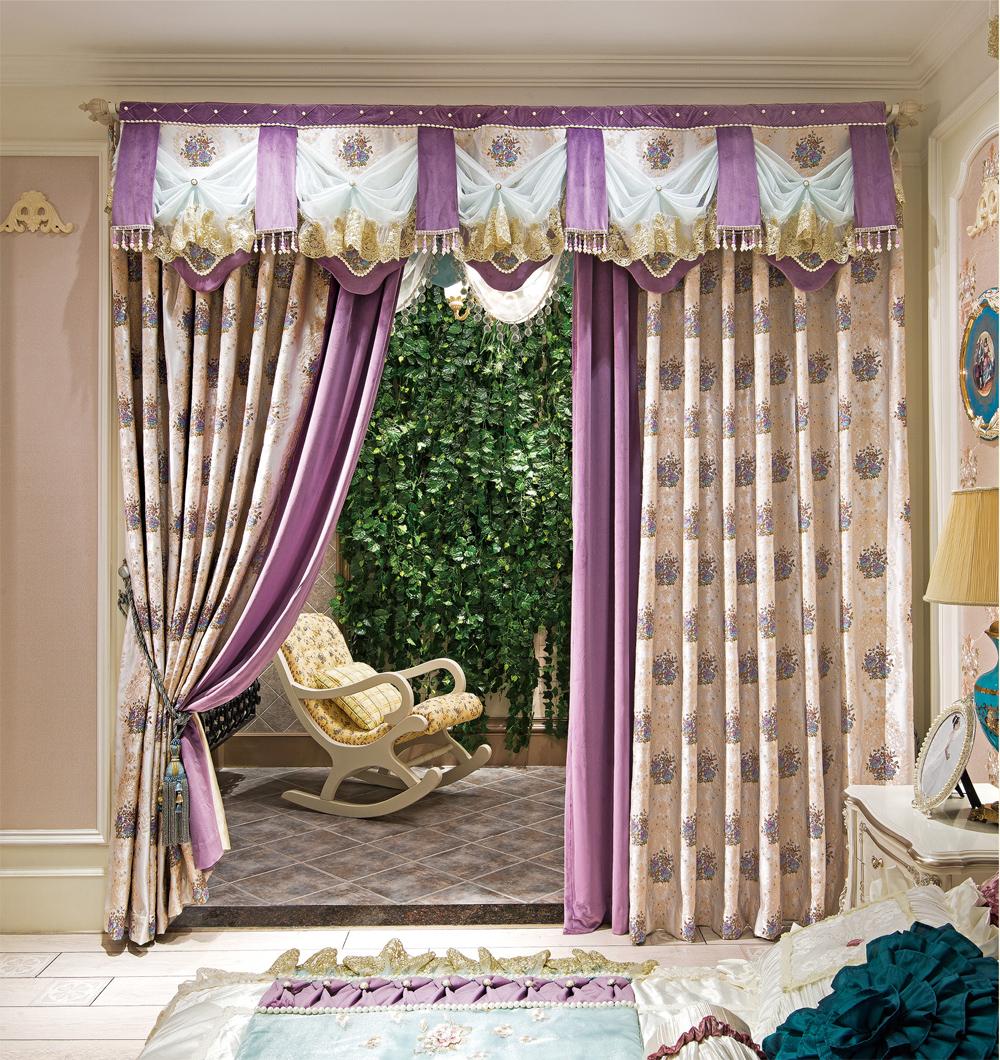 豪华欧式风格窗帘图片