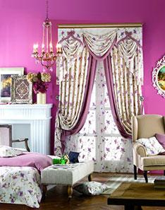 粉色甜蜜风格窗帘