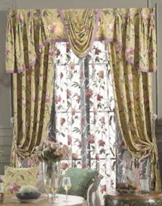 中式风格窗帘1