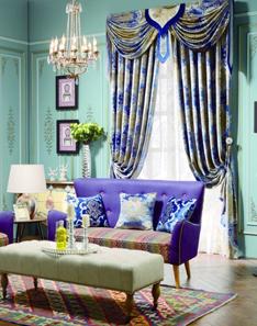 中式风格窗帘2